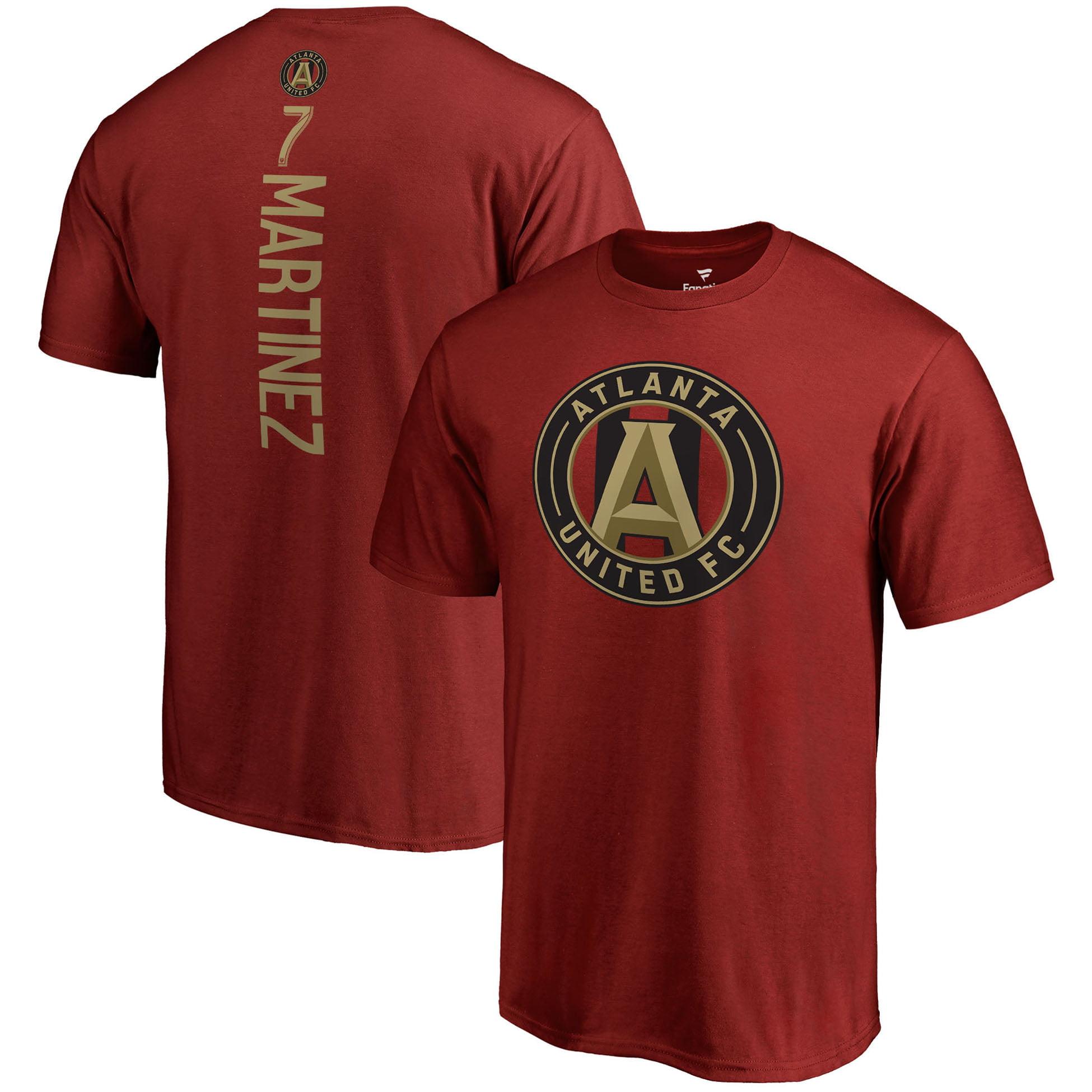 Josef Martinez Atlanta United FC Fanatics Branded Backer Name & Number T-Shirt - Red