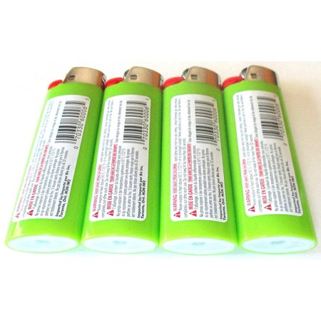 Lime Green Classic Full Size Lighters New Lot Of 4 By BIC - image 3 of 4