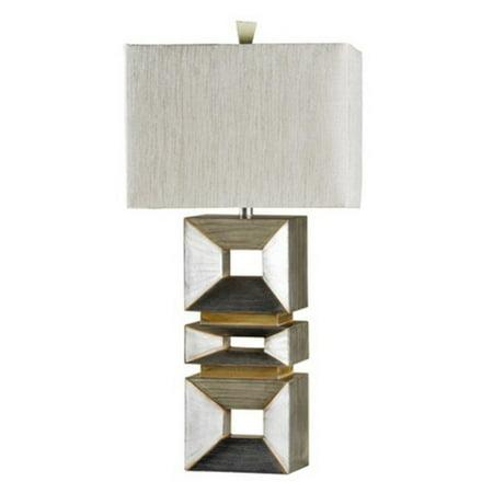 - StyleCraft Palladium Silver Table Lamp