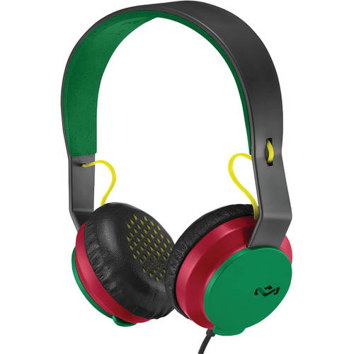The House of Marley EM-JH081-PK Rebel On-Ear Headphones with Microphone