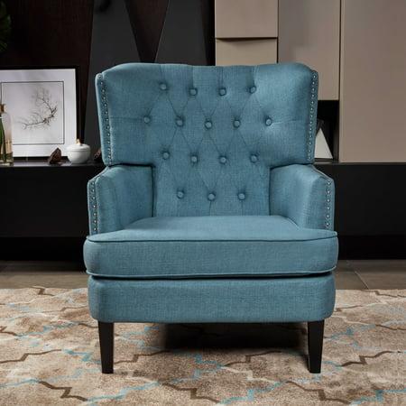 LOKATSE Indoor Armrest Accent Sofa Chair - Traditional Style