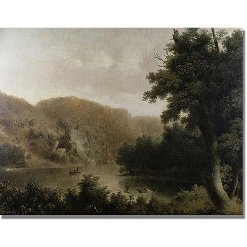 "Trademark Fine Art ""Mountain Lake"" Canvas Art by Thomas Doughty"