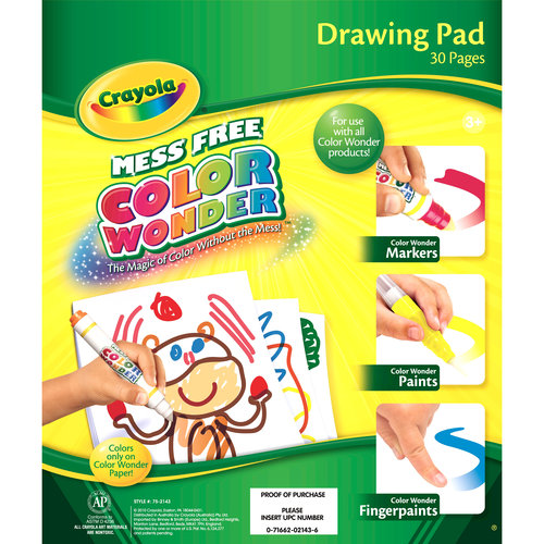 Crayola Color Wonder Drawing Pad, 30 pages of Mess Free Canvas to use with Color Wonder Mess Free Markers and Paints