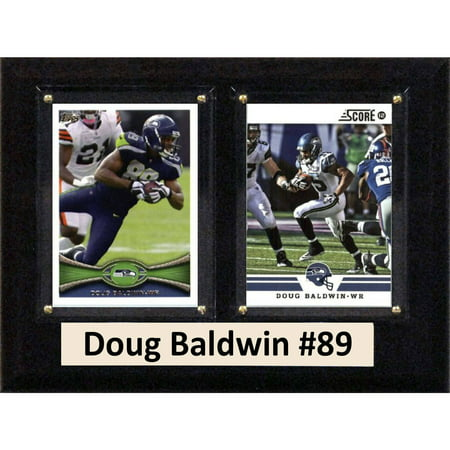 """C & I Collectables NFL 6"""" x 8"""" Doug Baldwin Seattle Seahawks Two-Card Plaque"""