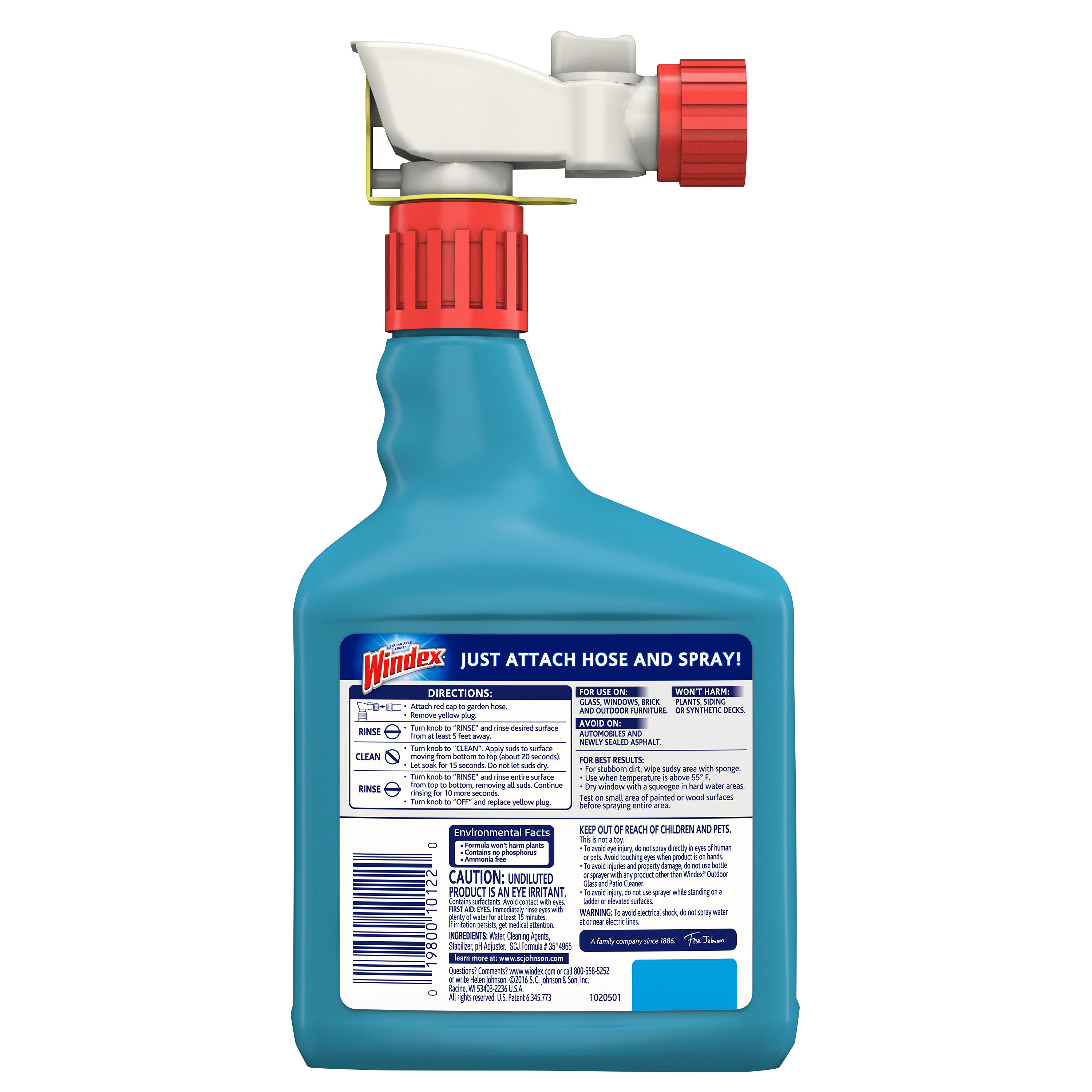 Windex Outdoor Glass Patio Concentrated Cleaner 32 Fluid Ounces