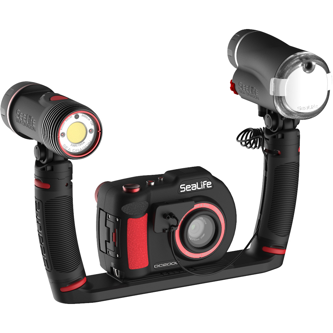 SeaLife DC2000 Pro Duo HD Underwater Digital Camera with Sea Dragon 3000 Light / Flash Set