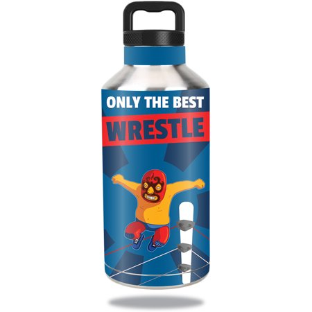 Skin For Ozark Trail Water Bottle 64 oz – Best Wrestle | MightySkins Protective, Durable, and Unique Vinyl Decal wrap cover | Easy To Apply, Remove, and Change Styles | Made in the