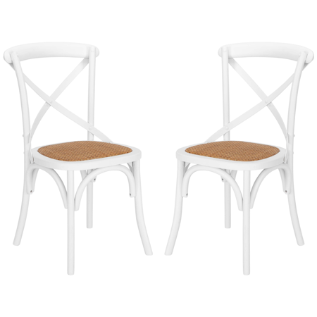 - Poly and Bark Cafton Crossback Chair in White (Set of 2)