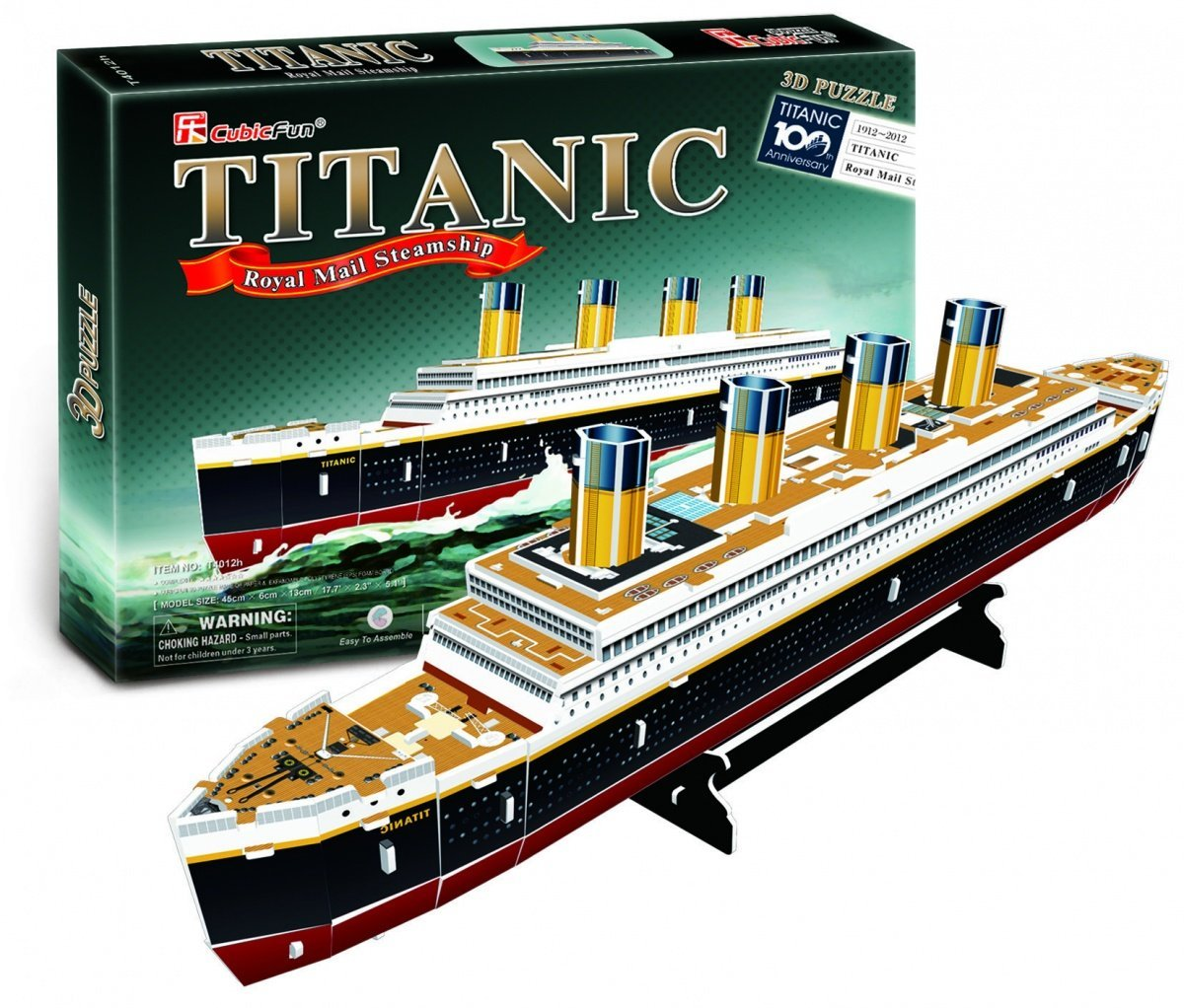 Cubic Fun RMS Titanic Ship 3D Puzzle Small 35 Pieces, 35 Pieces By CubicFun by