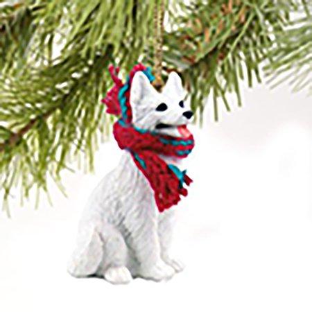 Conversation Concepts White German Shepherd Miniature Dog Ornament