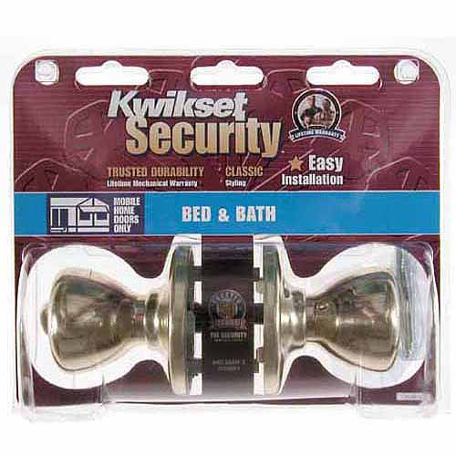 Kwikset 93001-495 Polished Brass Tylo Knob Mobile Home Privacy Set