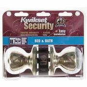 Kwikset 93001-876 Polished Brass Tylo Knob Mobile Home Privacy Set