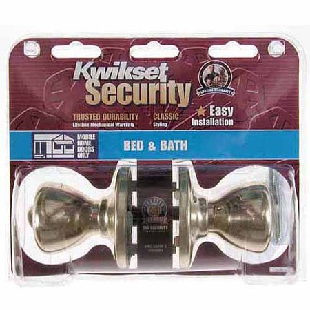 Kwikset 93001-876 Polished Brass Tylo Knob Mobile Home Privacy Set