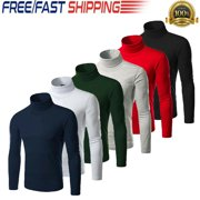 Men's Warm Cotton High Neck Pullover Jumper Sweater Tops Turtleneck Shirts
