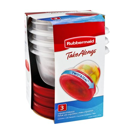 Rubbermaid Take Alongs Twist & Seal Liquid Storage - 3 (Best Travel Containers For Liquids)