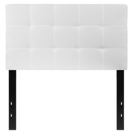 Clear Twin Size Headboard - Flash Furniture Bedford Tufted Upholstered Twin Size Headboard in White Fabric