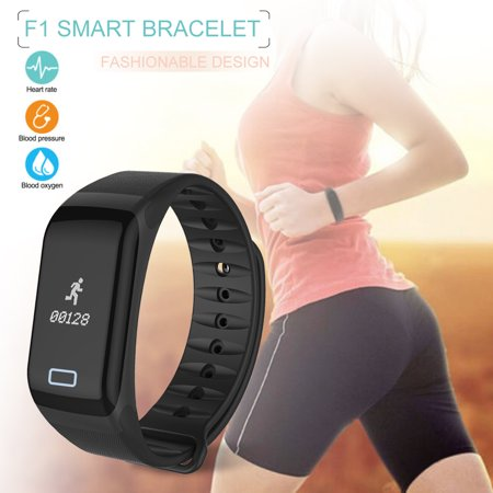 Waterproof Bluetooth 4.0 Smart Bracelet Heart Rate Smartband Fitness Tracker Pedometer Sleep Monitor Call Reminder Alarm Clock Oximetry Blood Pressure Monitor