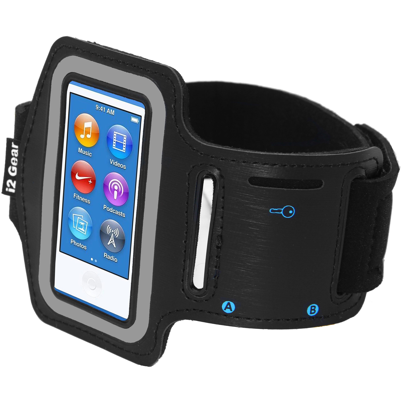 i2 Gear Armband Case for Apple iPod Nano 8G Jet Black Armbands MP3 ...