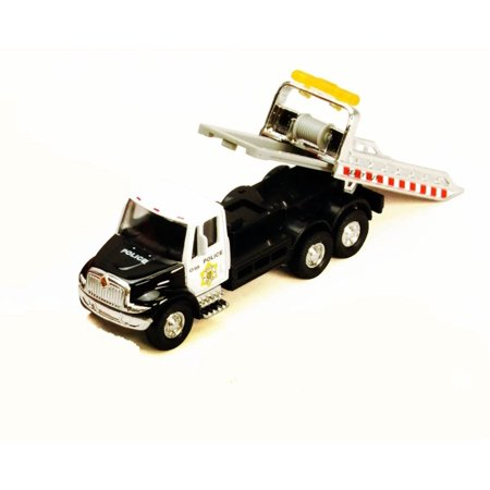 International Rollback Tow Truck, Black - Showcasts 2106D - 1/43 scale Diecast Model Toy Car (Brand New but NO BOX)