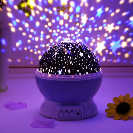 LED Rotating Projector Starry Night Lamp Star Sky Romantic Projection Light](Starry Night Centerpieces)