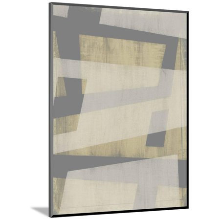 Diagonal Wood (Diagonal Layers I Wood Mounted Print Wall Art By Jennifer Goldberger )