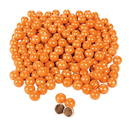 Fun Express - Shimmer Orange Chocolate Candies - Edibles - Chocolate - Non Branded Chocolate - 1184 Pieces](Candy Brands)