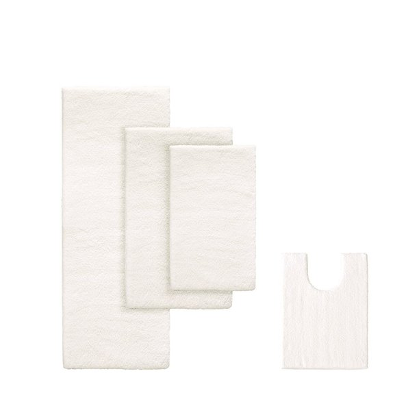 Marshmallow Memory Bath Rug Ivory 20x30 The Marshmallow Bath Rug By Madison Park Signature Will Revolutionize The Way You Buy Your Bath Rugs This Spa Quality Rug Is By Madison Park
