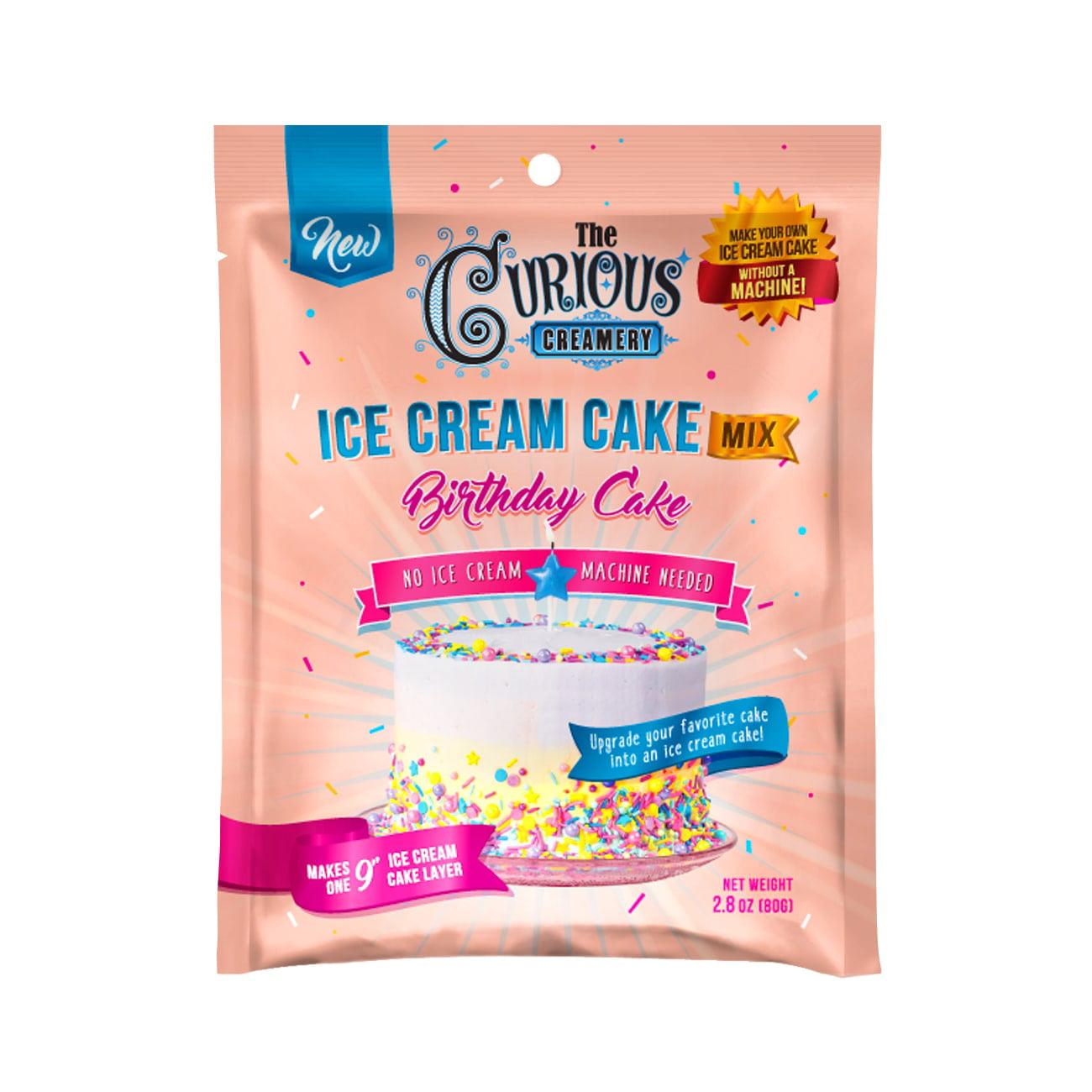 Curious Creamery Birthday Cake Ice Cream Cake Mix No Ice