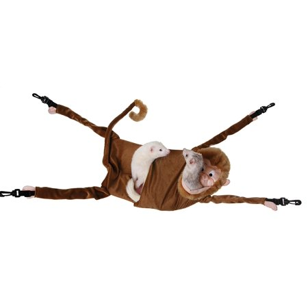 Hanging Monkey Hammock For Ferrets, Made of a soft fleece fabric, by Marshall Pet Products ()