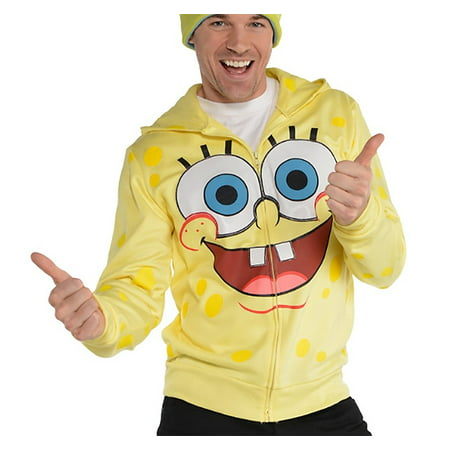 SpongeBob SquarePants Adult Zip-Up Costume Hoodie for $<!---->