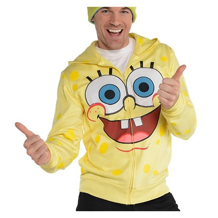 SpongeBob SquarePants Adult Zip-Up Costume Hoodie](Spongebob Games Halloween)