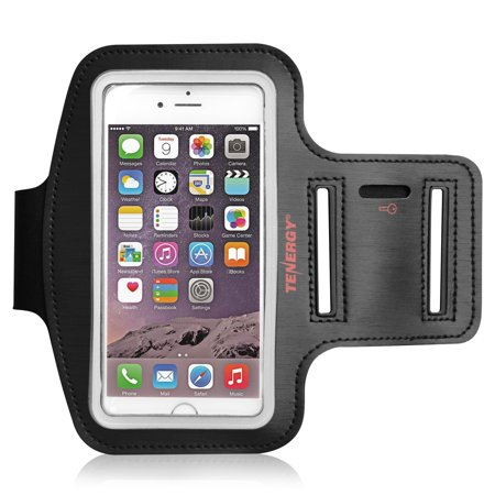 Adjustable Velcro Sports Armband (Tenergy 5.8 Inch Armband for iPhone 8 plus 7 plus 6S plus 6 plus, Galaxy S8 plus S7 plus S6 plus, Multi-slot Adjustable Velcro Water Resistant Sports Armband for Running, Gym, Bonus Screen Protector)