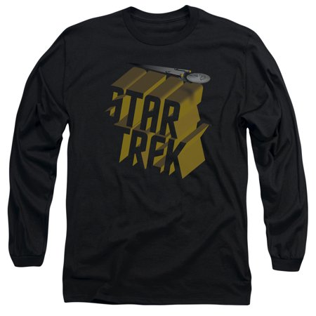 Star Trek 3D Logo L S Adult 18 1 Black 2X