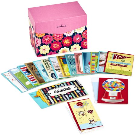 Hallmark All Occasion Boxed Greeting Card Assortment, 20-ct. with Dividers (Floral) - Box For Wedding Cards