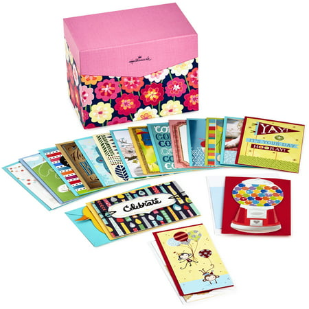 Hallmark All Occasion Boxed Greeting Card Assortment, 20-ct. with Dividers (Floral) (Cards Gift Box Set)
