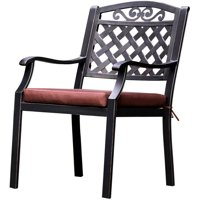 Furniture of America Markus Patio Bistro Chair, Set of 2, Antique Brass and Brown