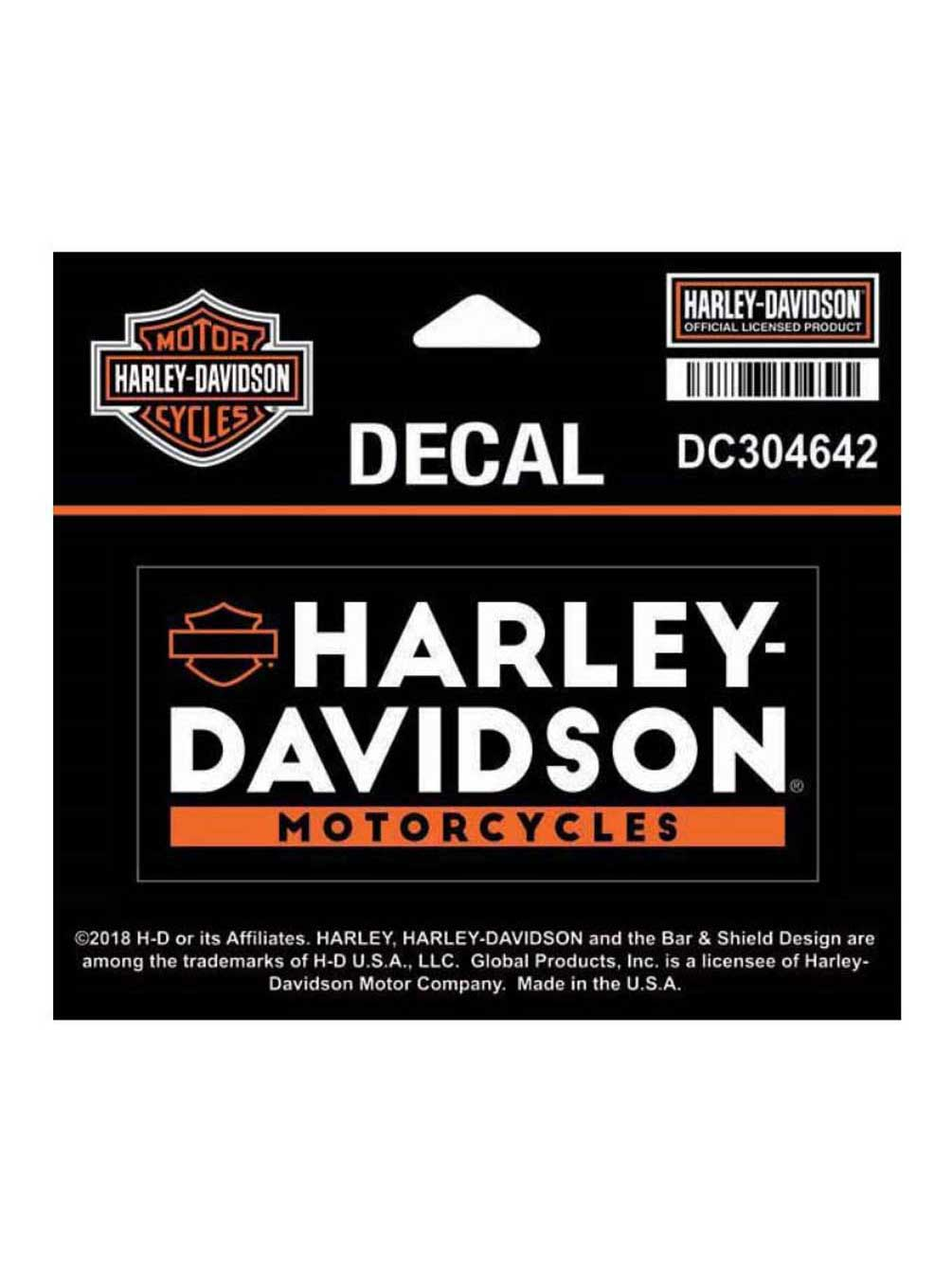 4 x 1.8125 inches DC304642 SM Size Harley-Davidson Basic Text Decal