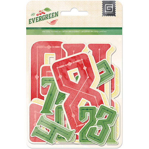BasicGrey Evergreen Numbers Jumbo Kraft