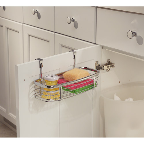 interDesign Chrome Axis Over the Counter Small Accessory Basket