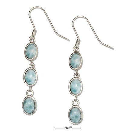 Sterling Silver Triple Oval Link Larimar (Triple Oval Link)