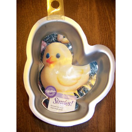 Singles - Cake - Cupcake Pan CHICK - makes single serving cake or cupcake, single serving cake pan - shape of a chick By Wilton
