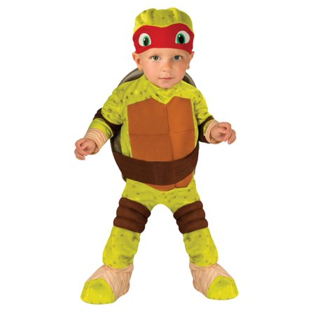 TMNT Infant Boys Raphael Teenage Mutant Ninja Turtles Halloween Costume 3T-4T](Tmnt Raphael Costume)