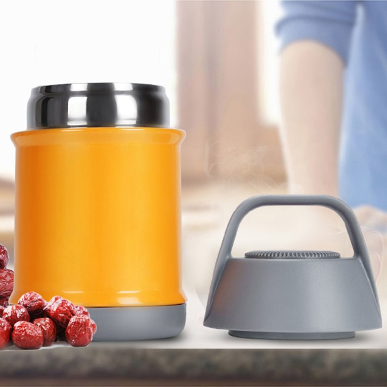 Green Stainless Steel Vacuums Bottle Braised Beaker Vacuum Flask Insulated Pot