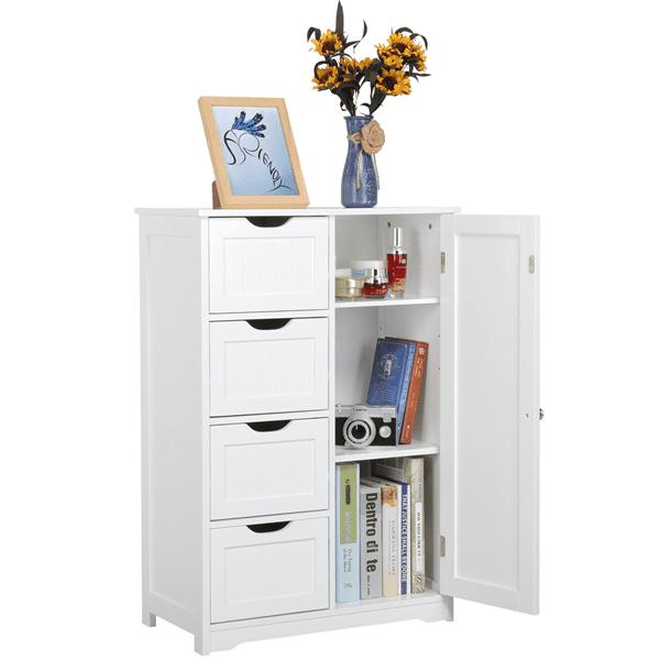Home Storage Solutions 4 Drawer Storage Unit Home Bedroom Drawers Garage Bathroom Office Shelves White