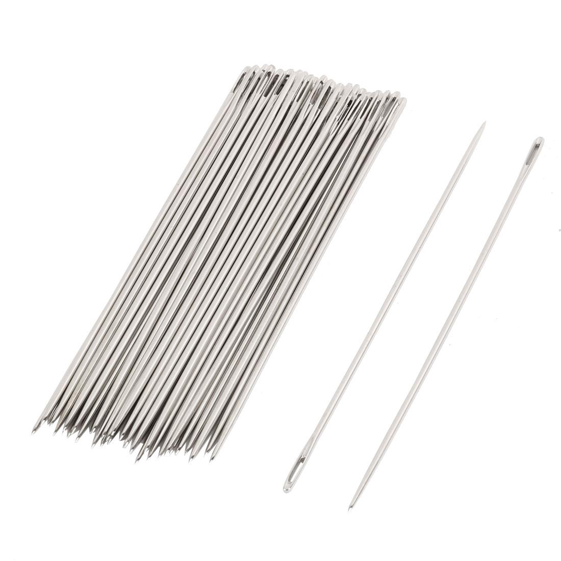 """Unique Bargains Unique Bargains 40 Pcs 0.8mm Dia Tip Sewing Needles 3"""" Length for Tailor"""