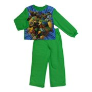 Teenage Mutant Ninja Turtles Boys Green Fleece Sleepwear TMNT Pajama Set 6-7