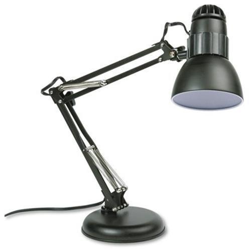 Ledu Adjustable Desk Lamp - Incandescent Bulb - Adjustable, Weighted Base - Matte Black (L423MB)