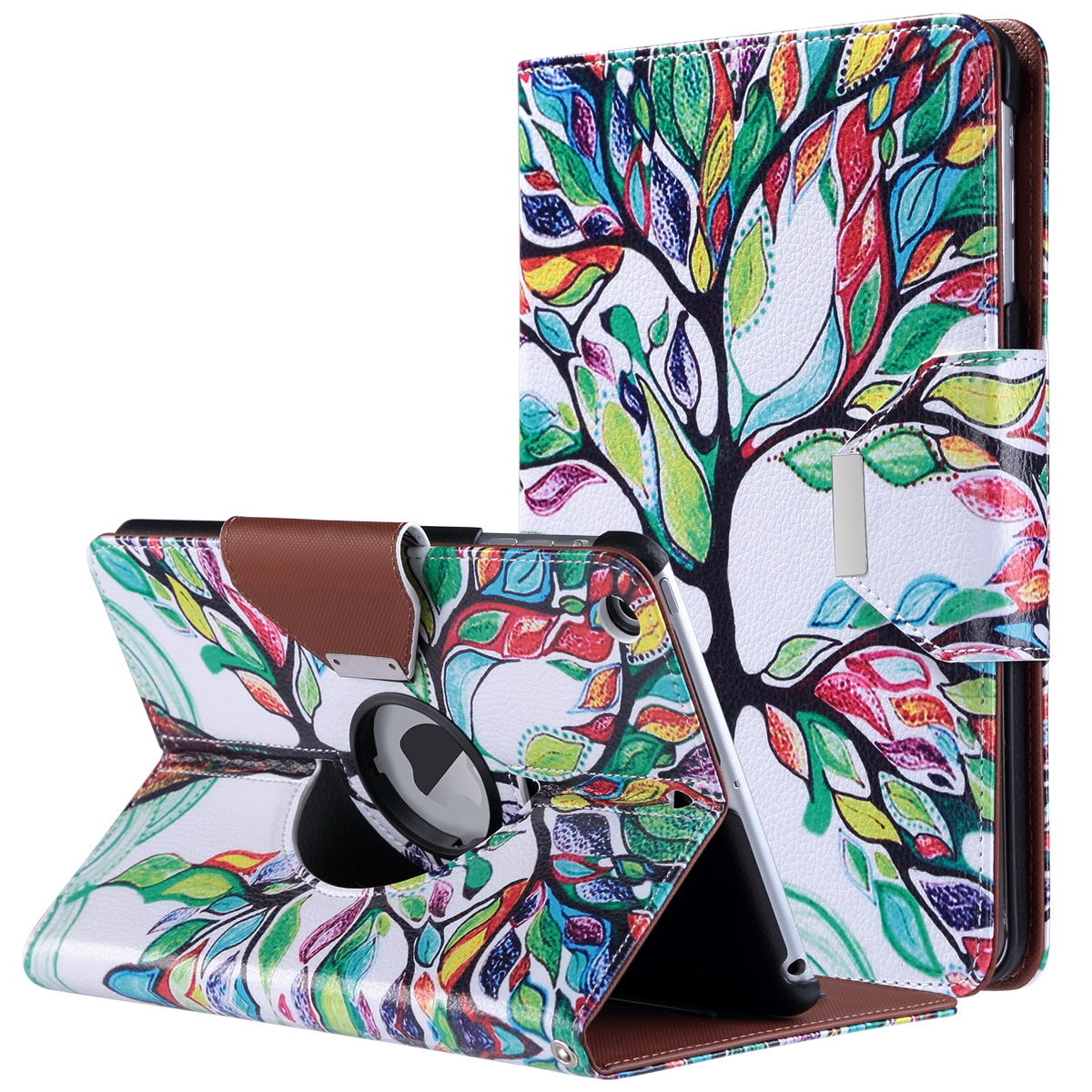 iPad mini 2 Case / iPad mini 3 / iPad mini Rotating Case - ULAK Multi-Angle Stand Smart Cover with Auto Sleep/Wake for Apple iPad mini 1/2/3