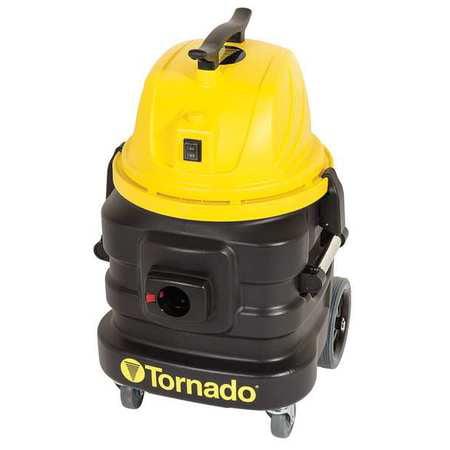 - Tornado 94234 Air Flow 114 cfm Wet/Dry Vacuum, 1-5/8 HP