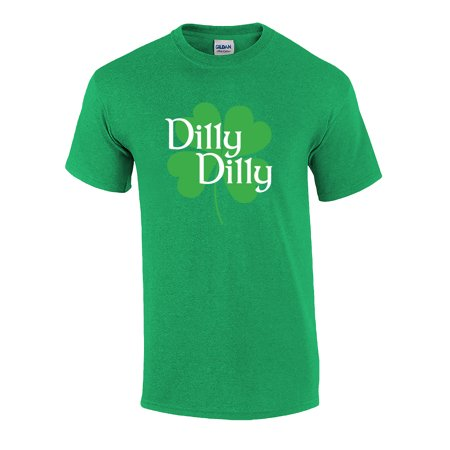 St. Patricks Day Dilly Dilly Clover Funny Beer Drinking Holiday T-shirt